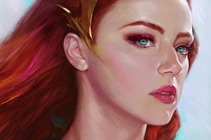 Mera Amber Heard Art