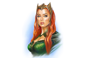 Mera Amber Heard Artwork 5k