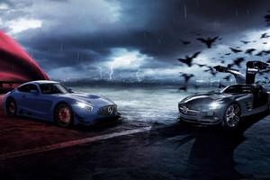 Mercedes AMG GT Superman And Batman