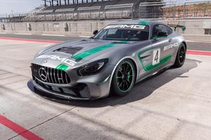 Mercedes AMG GT4 C190 2017 4k