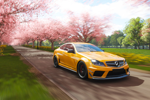 Mercedes Benz C63 AMG Coupe Forza Horizon 4 4k