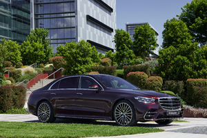 Mercedes Benz S 450 4MATIC AMG Line 2021 4k Wallpaper