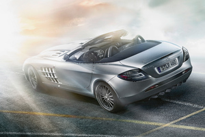Mercedes Benz SLR McLaren Roadster 8k Rear