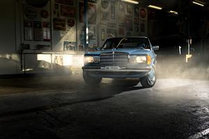 Mercedes Benz W123 5k Wallpaper
