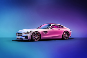 Mercedes C190 AMG GT 4k Wallpaper
