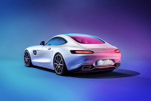 Mercedes C190 AMG GT Rear Wallpaper
