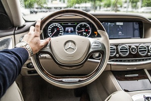 Mercedes Car Steering Wallpaper