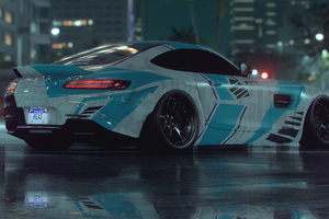 Mercedes Gt Rear Wallpaper