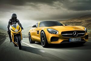 Mercedes Vs Motorcycle