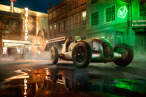 Mercedes W25 In French Old Town