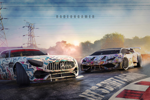 Merceds Amg And Lambo Drifting 4k Wallpaper