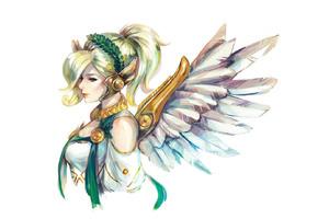 Mercy Angel Overwatch Wallpaper