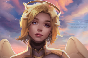 Mercy Overwatch 2 Concept Art 4k