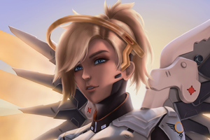 Mercy Overwatch 4k Artwork Wallpaper