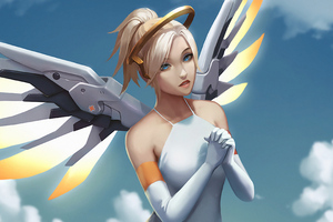 Mercy Overwatch Art 4k Wallpaper