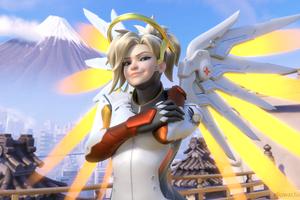 Mercy Overwatch Arts Wallpaper