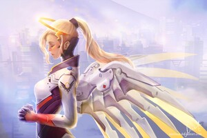 Mercy Overwatch Artwork 5k