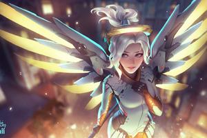 Mercy Overwatch Artwork Wallpaper