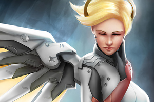 Mercy Overwatch Artworks 4k Wallpaper