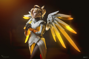 Mercy Overwatch Cosplay Wallpaper