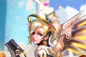 Mercy Overwatch Digital Arts Wallpaper