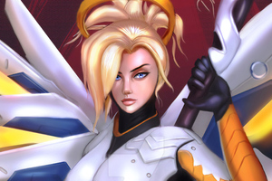 Mercy Overwatch Digital Work Wallpaper