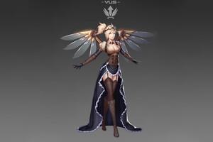 Mercy Overwatch Fan Artwork 5k