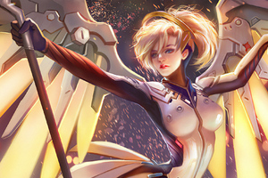 Mercy Overwatch Fan Artwork Wallpaper