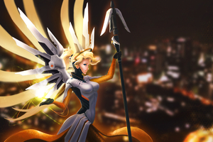 Mercy Overwatch Fanart 4k Wallpaper