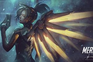 Mercy Overwatch Fantasy Art