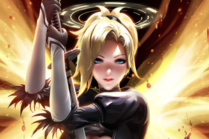 Mercy Overwatch Fantasy Art 5k Wallpaper