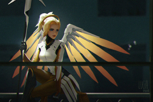 Mercy Overwatch Game Art 4k Wallpaper