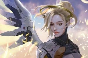 Mercy Overwatch Game Artwork