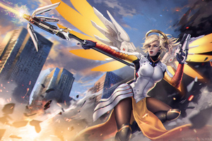 Mercy Overwatch Game Fanart