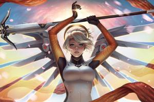 Mercy Overwatch Game Wallpaper