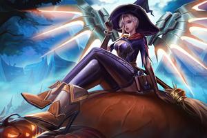 Mercy Witch Overwatch 4k Wallpaper