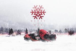 Merry X Mas Snowmobile