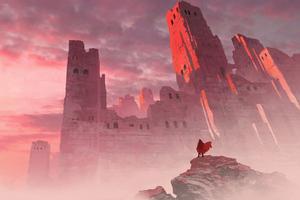 Messenger Reached Castle 4k Wallpaper
