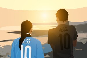 Messi Digital Art