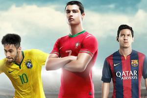 Messi Neymar Ronaldo Wallpaper