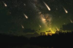 Meteors Dark Night