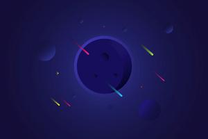Meteors Stars Minimalism Digital Art 4k
