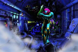 Metroid Samus Aran 4k