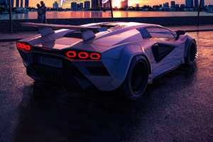 Miami Racing Vibes Lamborghini 4k Wallpaper