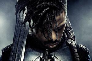 Michael B Jordan Black Panther Poster 4k 5k
