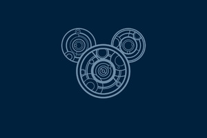 Mickey Mouse Minimalism Wallpaper