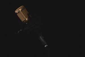 Microphone Dark Background 4k 5k Wallpaper