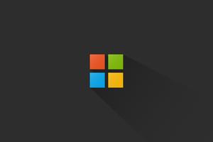Microsoft Minimal Logo 4k Wallpaper