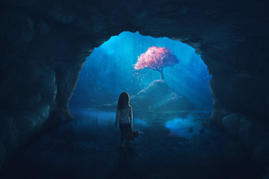 Midnight Exploring Discover Girl Wallpaper