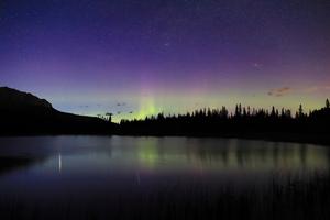 Midnight Lake Aurora 4k Wallpaper